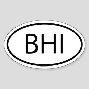 BHI Oval Sticker