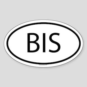 BIS Oval Sticker