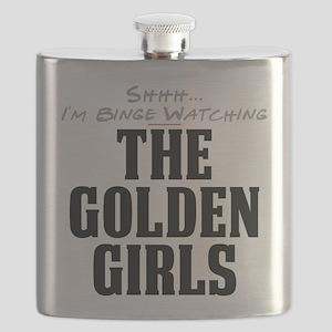 Shhh... I'm Binge Watching The Golden Girls Flask