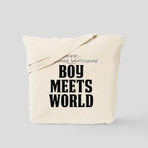 Shhh... I'm Binge Watching Boy Meets World Tote Ba