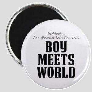 Shhh... I'm Binge Watching Boy Meets World Magnet