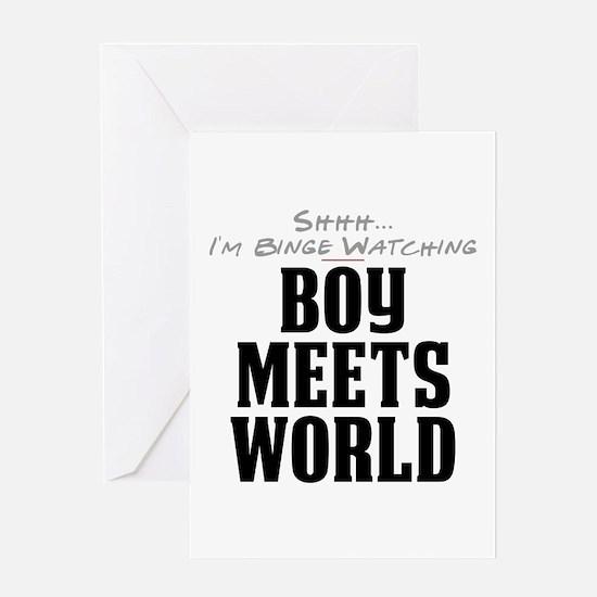 Shhh... I'm Binge Watching Boy Meets World Greetin