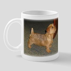 Whimsical Norfolk Terrier Puppy Mug
