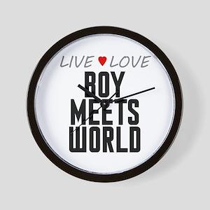 Live Love Boy Meets World Wall Clock
