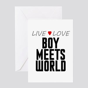 Live Love Boy Meets World Greeting Card