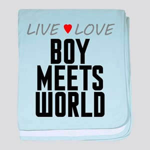 Live Love Boy Meets World Infant Blanket