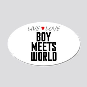 Live Love Boy Meets World 22x14 Oval Wall Peel