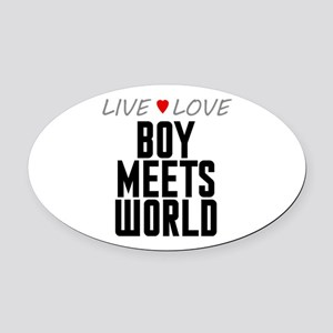 Live Love Boy Meets World Oval Car Magnet
