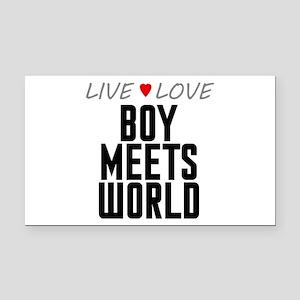 Live Love Boy Meets World Rectangle Car Magnet