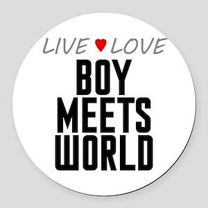 Live Love Boy Meets World Round Car Magnet