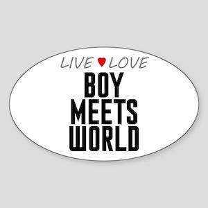 Live Love Boy Meets World Oval Sticker