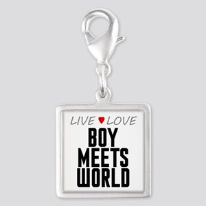 Live Love Boy Meets World Silver Square Charm