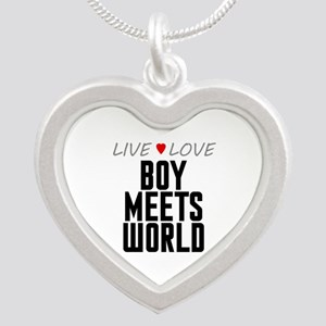Live Love Boy Meets World Silver Heart Necklace