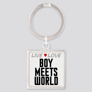 Live Love Boy Meets World Square Keychain