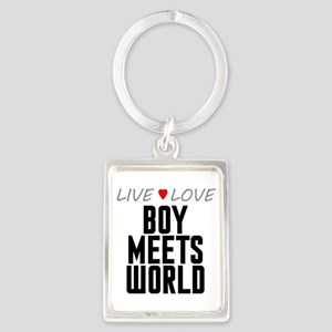 Live Love Boy Meets World Portrait Keychain