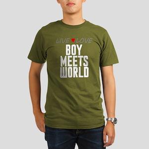 Live Love Boy Meets World Organic Men's Dark T-Shi
