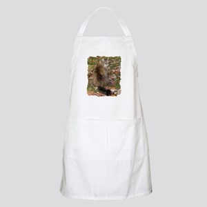 Maine Coon cat Fall leaves BBQ Apron