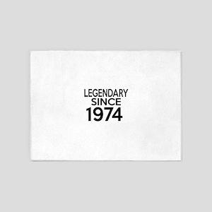 Legendary Since 1974 5'x7'Area Rug