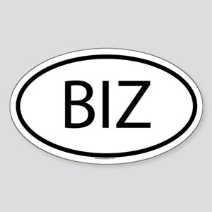 BIZ Oval Sticker