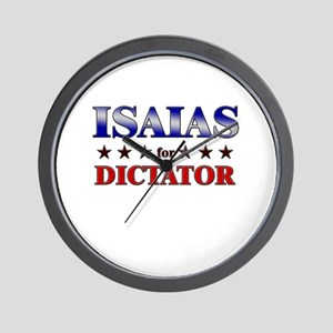 ISAIAS for dictator Wall Clock