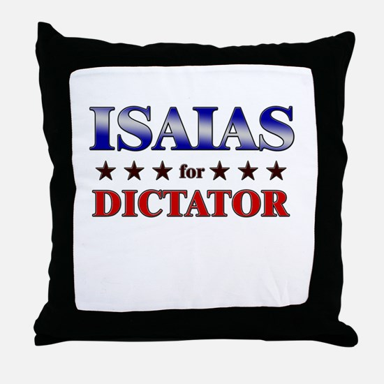 ISAIAS for dictator Throw Pillow