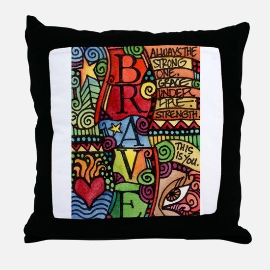 Brave Girl Throw Pillow
