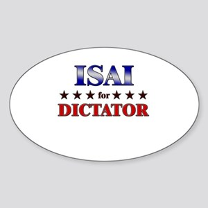 ISAI for dictator Oval Sticker