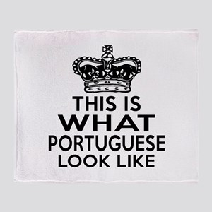 I Am Portuguese Throw Blanket