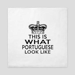 I Am Portuguese Queen Duvet