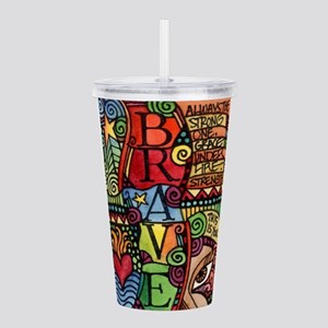 Brave Girl Acrylic Double-wall Tumbler