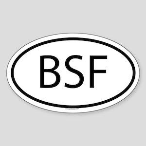 BSF Oval Sticker