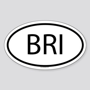 BRI Oval Sticker