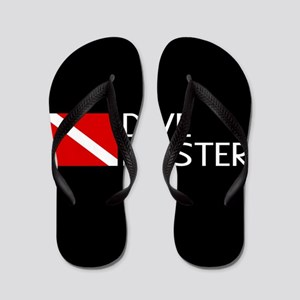 Diving: Diving Flag & Dive Master Flip Flops