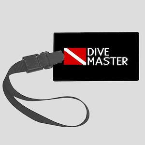 Diving: Diving Flag & Dive Maste Large Luggage Tag