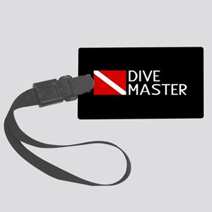 Diving: Diving Flag & Dive Maste Large Luggage Tag