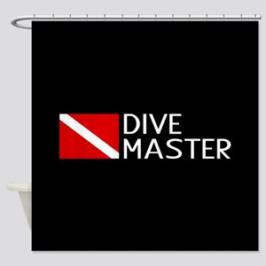 Diving: Diving Flag & Dive Master Shower Curtain