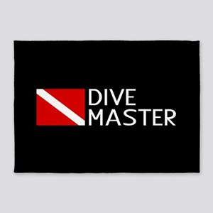 Diving: Diving Flag & Dive Master 5'x7'Area Rug