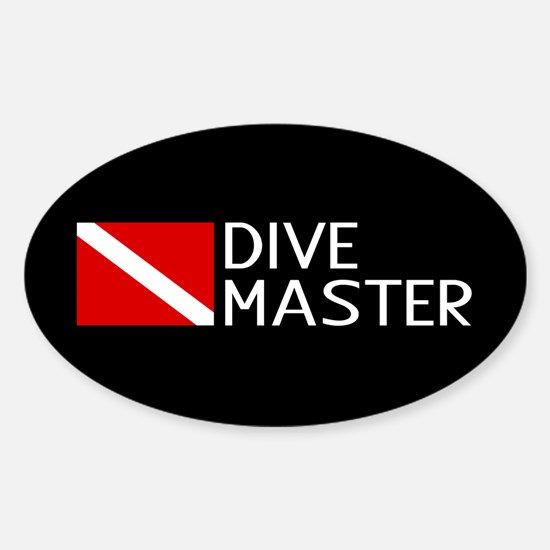Diving: Diving Flag & Dive Master Sticker (Oval)