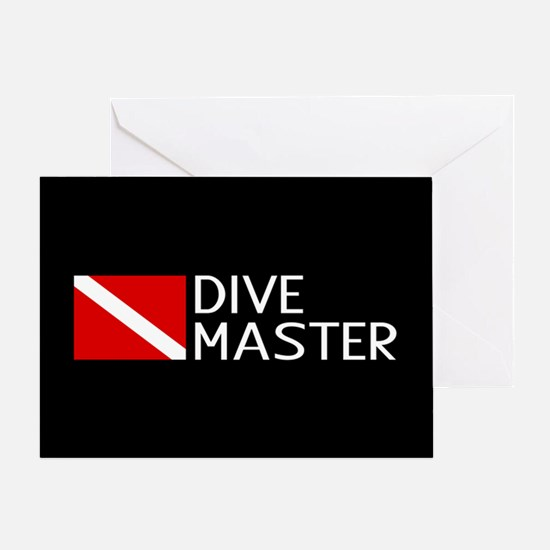 Diving: Diving Flag & Dive Master Greeting Card