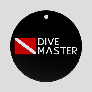 Diving: Diving Flag & Dive Master Round Ornament