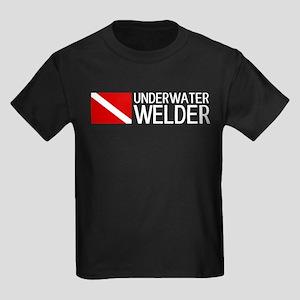 Welding: Underwater Welder & Div Kids Dark T-Shirt