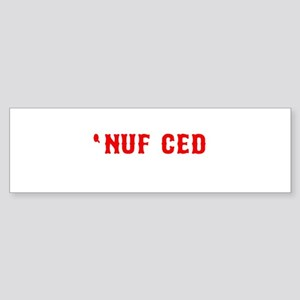 NUF CED Bumper Sticker