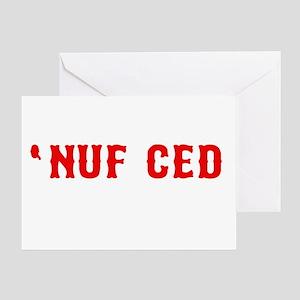 NUF CED Greeting Card
