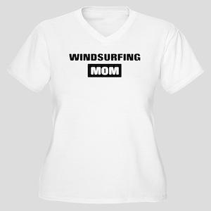 WINDSURFING mom Women's Plus Size V-Neck T-Shirt