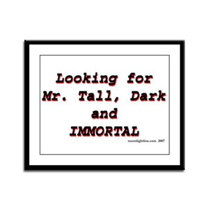 Looking for Mr Tall Dark and  Framed Panel Print