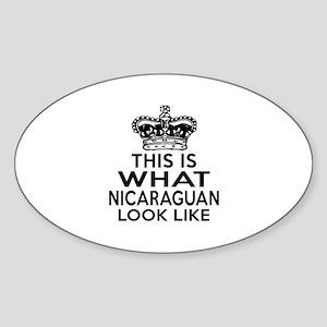 I Am Nicaraguan Sticker (Oval)