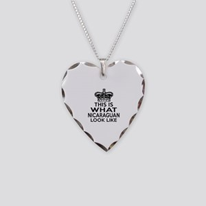 I Am Nicaraguan Necklace Heart Charm