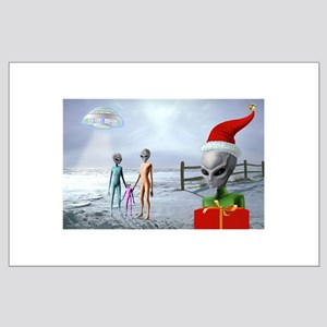 Alien Family Holiday ~ Large Poster