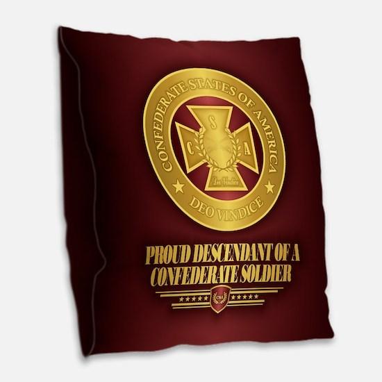 Proud Descendant Burlap Throw Pillow
