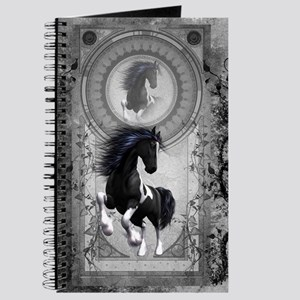 Wonderful horse in black and white Journal